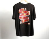 PSYCHEDELIC arizona ruins 90s SOUTHWEST native american feathers t-shirt