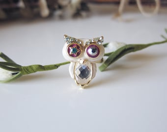 Miss Hooters - Bejeweled Owl Ring