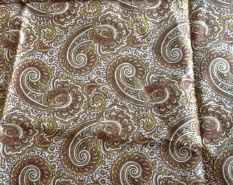Paisley Cotton Fabric Material Quilting Earth Tones