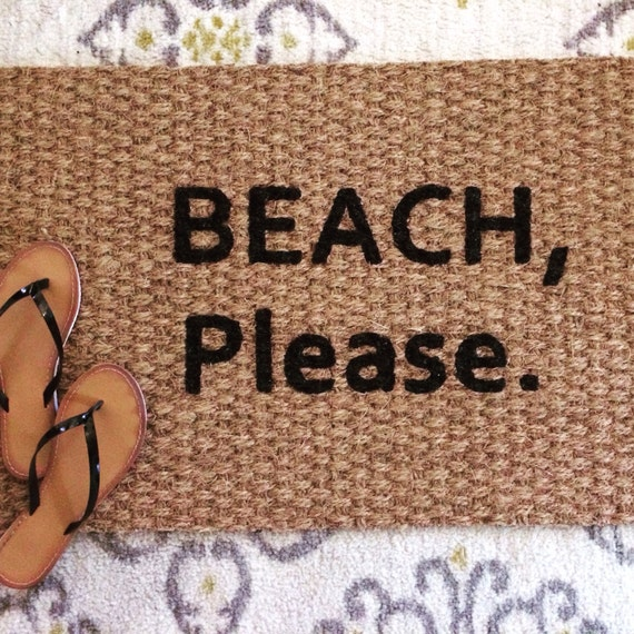 Beach, please doormat