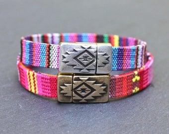 Colorful Bangle , Colorful Bracelet , Colorful Jewelry , Native American Bracelet , Boho Bracelet ,  Cotton Bracelet , Amy Fine