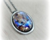 Rainbow Opal Necklace Fire Opal Jewelry Rainbow Glass Necklace Rainbow Necklace Rainbow Pendant Glass Pendant Rainbow Jewelry
