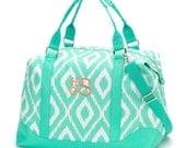 Mint Ikat Weekender Bag - FREE Personalization