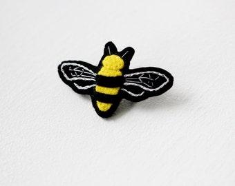Bee Brooch Felt Pin