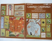 Charted Creatures Book For Needlepoint, Cross Stitch, Latch Hook, Knit and Crochet, Bette Elovitz, Needlework