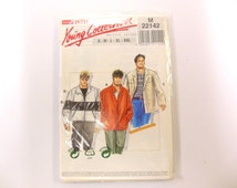 Neue Mode Stil Pattern M 22142, Men's Teen Jacket Sewing Pattern, Uncut, Size S-XXL, Young Collection, Zipper, Button