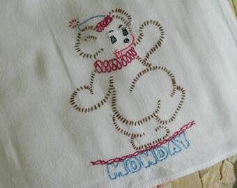 Kitschy Kitchen Towel Vintage Linen #56