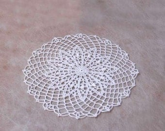 Elegant White Lace Crochet Doily, Table Accessory, Home Decor, Weddings