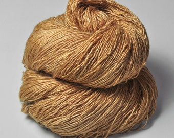 Too much caramel cake - Tussah Silk Fingering Yarn