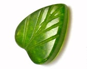 Olive Jade Leaf Cabochon 8x6 Miniature little leaves Carved Green Autumn Chinese China Stacking Rings Earrings Designer Jewelry Olive Grass