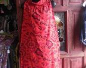 "1960s Red Cotton Hawaiian Dress by ""Ui-Maikei"", sz M"