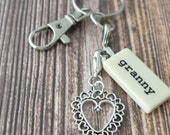 GRANNY Key Chain Personalized Customized Domino Gift for Grandmother, Granny, Grandma Gift by Kristin Victoria Designs