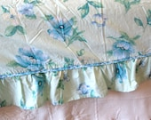 King Size Flat Sheet and Pillowcase, Liz Claborne, Floral