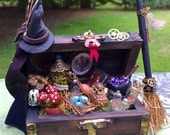 Layaway available Dollhouse Miniature Witch Wizard Floor Trunk Chest
