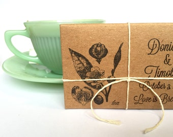 Bridal Shower Tea Party Favors // customized // organic // unique ...set of 20