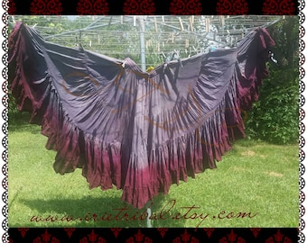 25yd Hand Dyed Charcoal Gray/Burgundy skirt