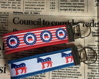 Party Line Political Key Fobs