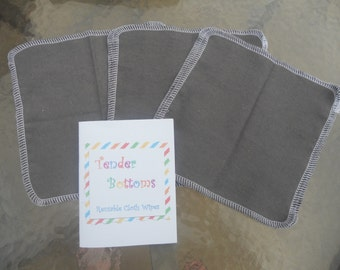 "30 Ct 1 Ply Tender Bottoms Baby Wipes 8"" Square"