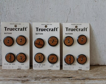 Vintage Faux Bois Button Collection