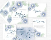 The Kylee Collection | Hand-Painted Watercolor Wedding Invitations - Set of 25