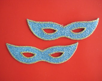 Clearance~ 10 pcs iron-on Applique Costume Eye Mask 3.1 inch
