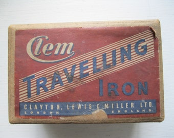 Vintage 1940s 'Clem' Travelling Iron - collectors item