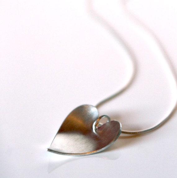 Be Mine Sterling silver handmade heart pendant
