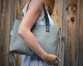 Waxed Canvas Tote, Shoulder Bag, Waxed Canvas, Tote No. 2