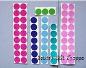 "60 3/4"" Polka Dot Gloss Sticker Sheet - 60 Polka Dots - Vinyl Decals -  Sticker Sheet - Stemware Glasses - Bridal Party"