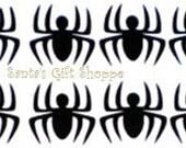 20 (1 inch) Spider Vinyl Decals - Spiderman Party Vinyl Decals - Birthday Party Stickers - Spiders - Birthday Party - Halloween Decorations