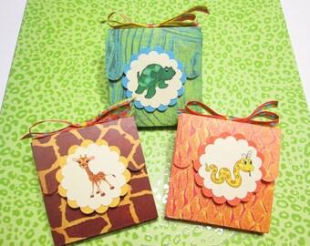 CLEARANCE SALE /// Handmade Post-It Note Pad Covers - Animal Print Cuties