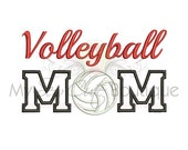 Volleyball Mom Applique Design - 6 Sizes - Instant Download