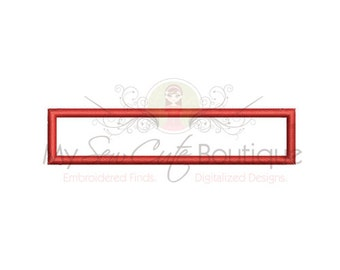 Applique Rectangle - 3 Sizes - Instant Download