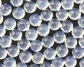 Blue Chalcedony Cabochon 6mm Rose Cut Round -  1 cab, CBCALRCR6
