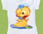 Baby Duckling T-Shirt, Baby One Piece bodysuit, Baby Duck Pink or Blue, Baby Boy, Baby Girl, Easter, Baby Chick  Shirt  by ChiTownBoutique