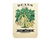antique 1900s litho card seed co. golden wax beans packet