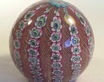 A Filligrana Millefiori  Murano Art Glass Paperweight T40