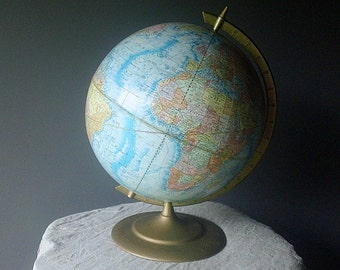 Vintage WORLD Globe - Cram's Earth Profile