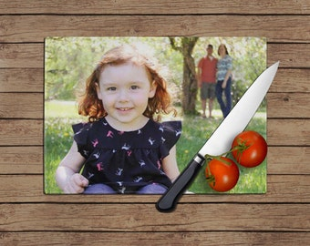 Personalized Photo Tempered Glass Cutting Board