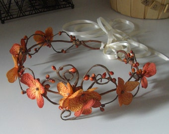Fall Wedding Tiara Wreath