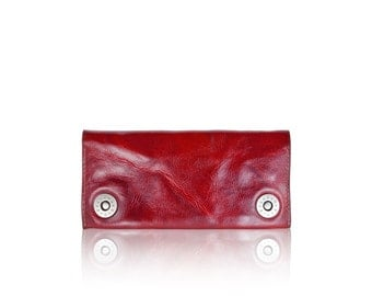 iPhone SLOWDESIGN leather wallet - - RED