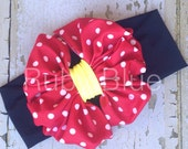 Minnie Mouse Messy Bow Head Wrap - Pool Safe