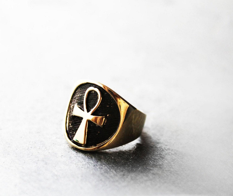 Mens Ring Mens Ankh Ring Ankh Ring Egyptian Ankh Ring
