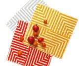 Maze Cocktail Napkins - Geometric Modern Organic Cotton