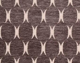 Plush Charcoal Ogee geometric lattice decorative pillow cover