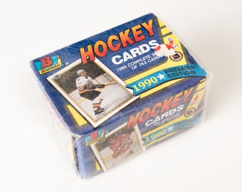 Sealed Vintage 1990 Bowman NHL Hockey Cards Complete Set, Made in USA
