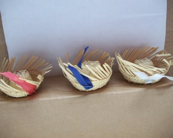 Vintage Miniature Souvenir Beachcomber Straw Hat