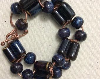 Statement Bracelet, Blue