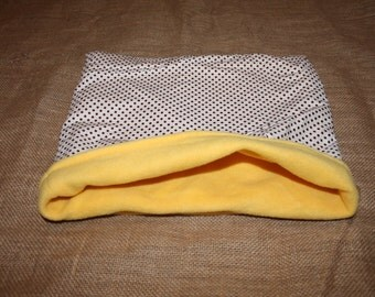 LARGE Yellow with Polka Dots pouch for small pets.