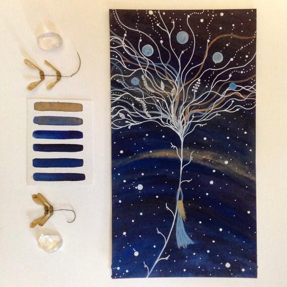 Original Painting-Solea & the Blue Moon Dream